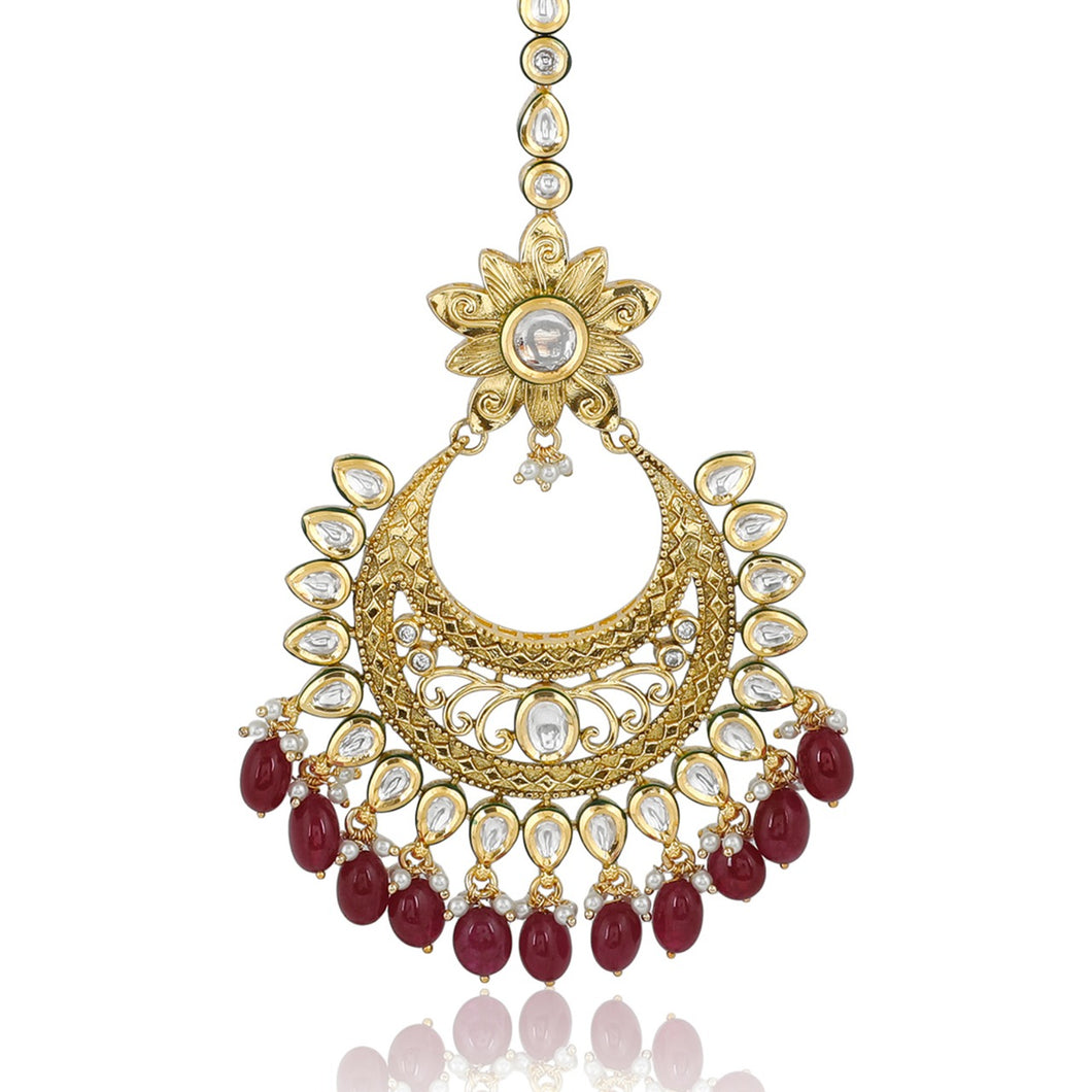 Kundan Maang Tikka - Indian Jewellery - Kiwibay