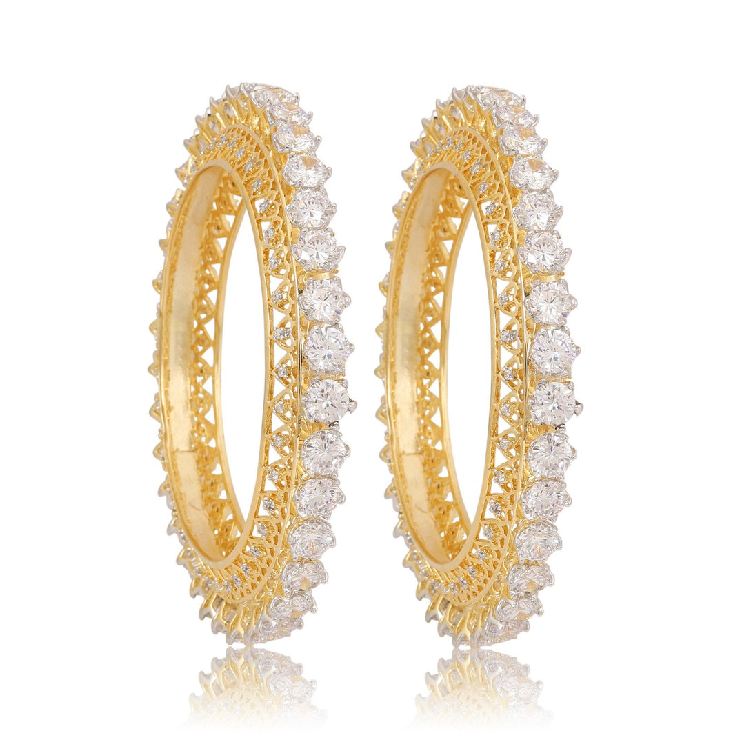 Gold Diamond Bangles - Kiwibay