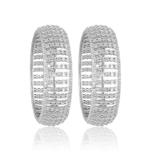 Dazzling Artificial Diamond Bangles - Kiwibay
