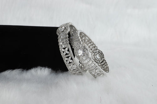 Artifical Diamond Zircon Bangles - Kiwibay