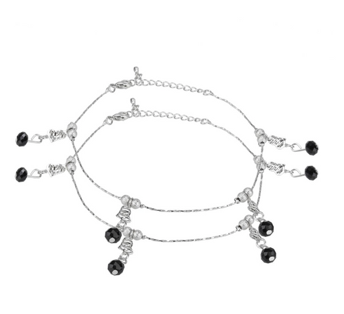 Beads and Stones Fashion Anklet - Kiwibay