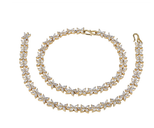 Gold Diamond Anklet - Kiwibay
