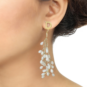 High Street Ivory Fashion Earrings - Kiwibay