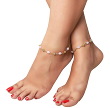 Load image into Gallery viewer, Pink Pearl and Beads Anklet - Kiwibay