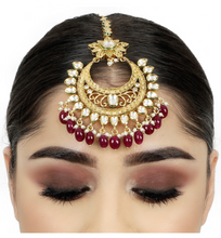 Load image into Gallery viewer, Kundan Maang Tikka - Indian Jewellery - Kiwibay