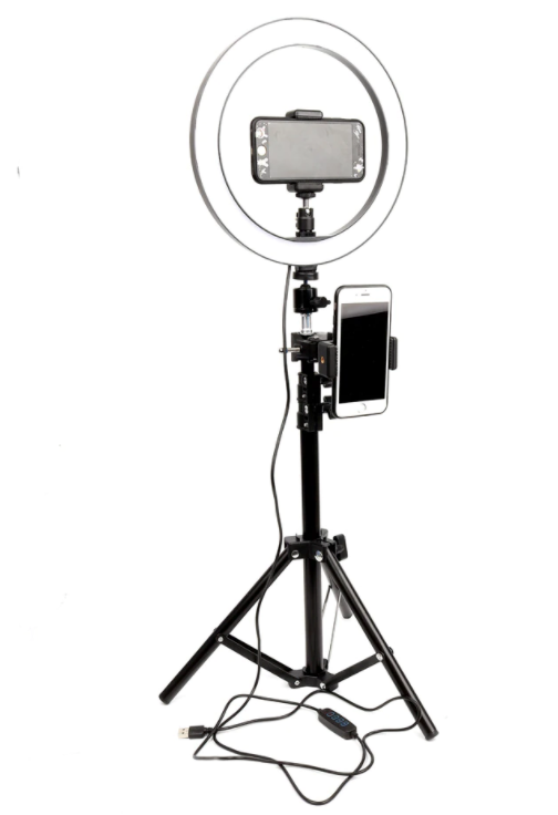 Ring Light With Tripod Phone Holder Clips - Kiwibay
