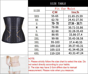 Latex Waist Trainer Corset Shapewear