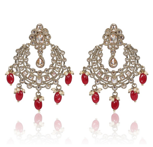 Ruby Polki Earrings - Kiwibay