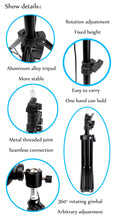 Load image into Gallery viewer, Ring Light With Tripod Phone Holder Clips - Kiwibay
