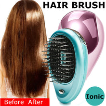Load image into Gallery viewer, Portable Electric Ionic Hair Brush Hair Straightener Brush Negative Ion Comb Anti-static Massage - Kiwibay