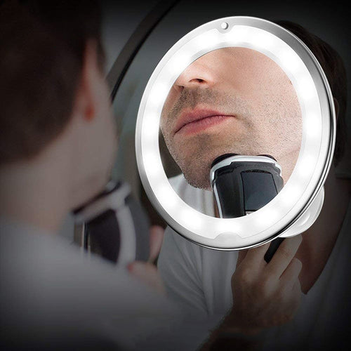 Magnifying Mirror for Make up or Shave with LED - Kiwibay