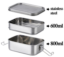 Load image into Gallery viewer, Stainless Steel Bento Lunch Box - Kiwibay
