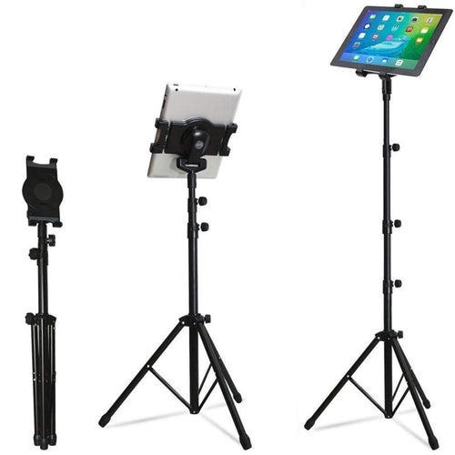 iPad / Tablet Tripod Height Adjustable Floor Stand - Kiwibay