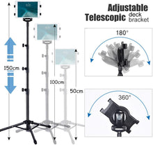 Load image into Gallery viewer, iPad / Tablet Floor Stand Tripod Height Adjustable - Kiwibay