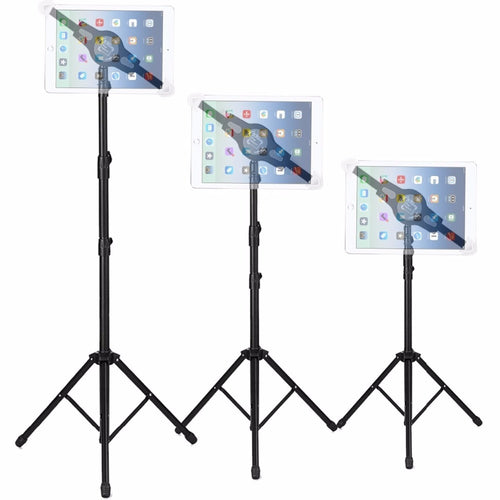 iPad | Tablet Tripod - Height Adjustable 360 Rotating Floor Stand | All 7-12 inch Tablets - Kiwibay