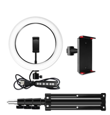 Ring Light with Tablet Holder and Tripod Stand Kit for Photobooth - Kiwibay