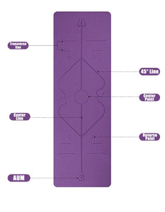 Yoga Mat with Position Lines - Kiwibay