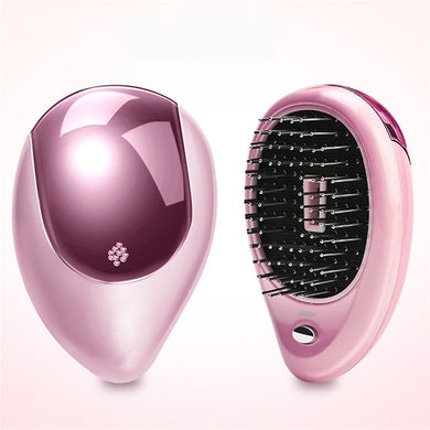 Portable Electric Ionic Hair Brush Hair Straightener Brush Negative Ion Comb Anti-static Massage - Kiwibay