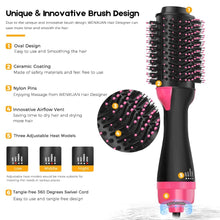 Load image into Gallery viewer, One Step Hot Hair Dryer Volumizing Styler Negative Ion Generator Hair Straightener Hot Air Brush - Kiwibay