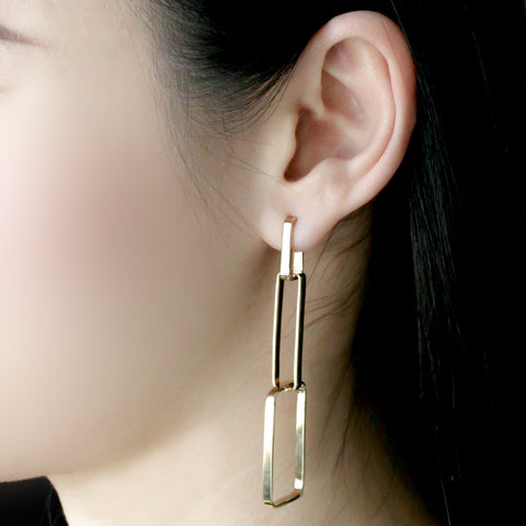 Three Link Earrings