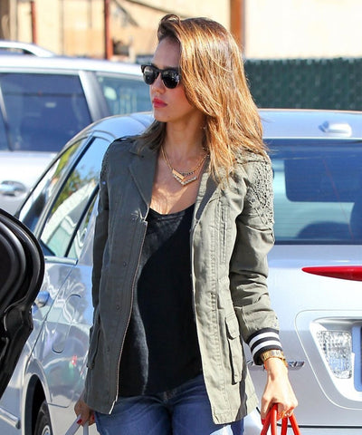 Jessica Alba - Bonded Rope Necklace