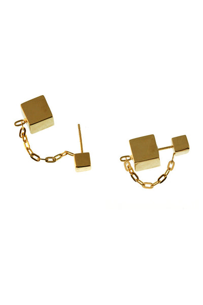 Floating Cube Earrings