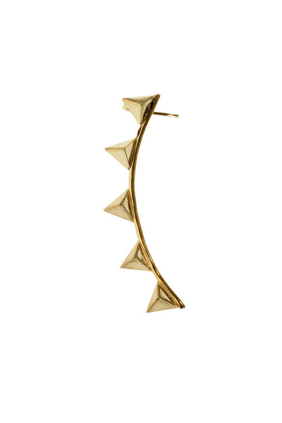 Pyramid Geometry Ear Cuff - Gold