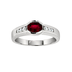 Partial Bezel Ruby Ring
