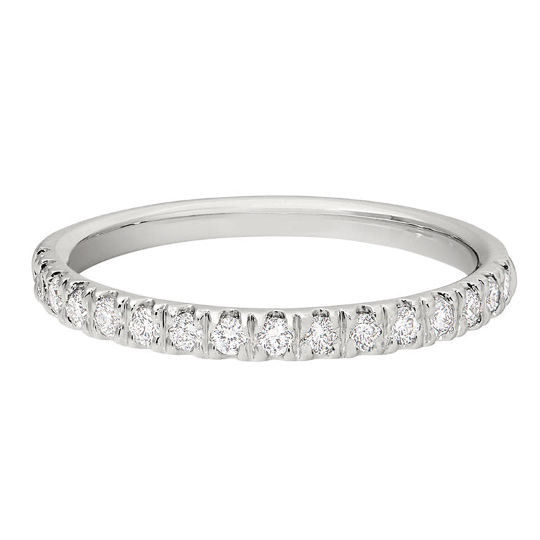 French Set Diamond Band 1/3 Carat