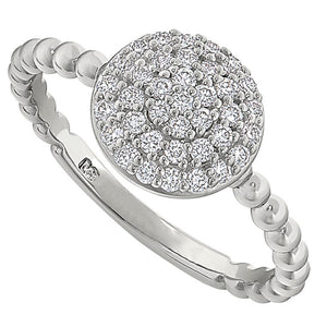 Diamond Cluster Ring 3/8 Carat
