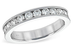 Channel Set Diamond Band 1.0 Carat with Millgrain