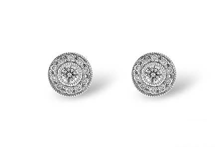 Art deco style diamond cluster earrings