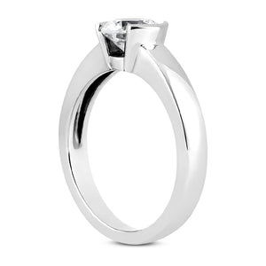 Partial Bezel Engagement Ring Semi-mount for Round Diamond