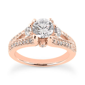 Split Shank with Side Diamonds Ring Semi-mount