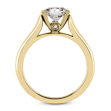 Load image into Gallery viewer, Partial Bezel Engagement Ring Semi-mount for Round Diamond