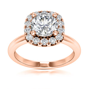 Halo Engagement Ring Semi-mount for Round Diamond