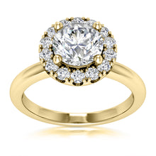 Load image into Gallery viewer, Halo Engagement Ring Semi-mount for Round Diamond