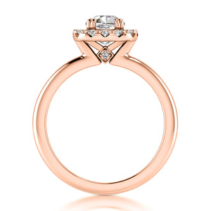 Engagement Ring Semi-mount for Cushion Diamond
