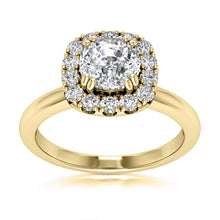 Load image into Gallery viewer, Engagement Ring Semi-mount for Cushion Diamond