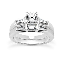 Load image into Gallery viewer, Baguette Engagement Ring Semi-mount Set