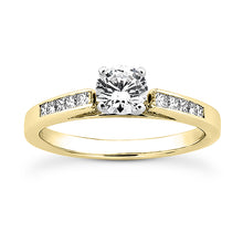 Load image into Gallery viewer, Petite Channel Princess Engagement Semi-mount Set