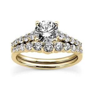 Shared Prong Engagement Ring Semi-mount Set