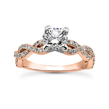 Load image into Gallery viewer, Weave Engagement Ring Semi-mount Set