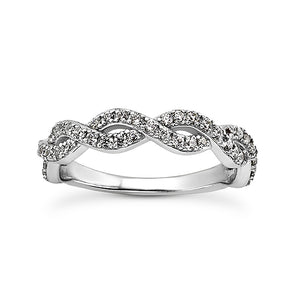 Weave Engagement Ring Semi-mount Set