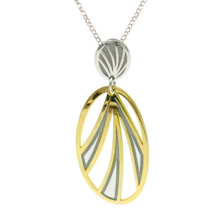 Silver and Yellow Gold Plated Tropics Necklace