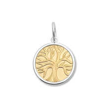 Load image into Gallery viewer, Tree of Life - Small Gold Center Vermeil