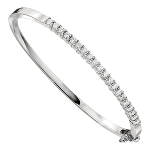 Diamond Bangle Bracelet 1.0 Carat