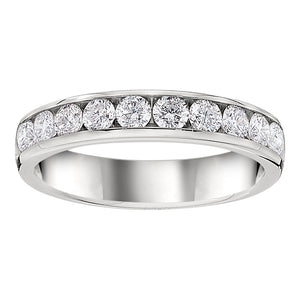 Channel Set Diamond Band 1/2 Carat