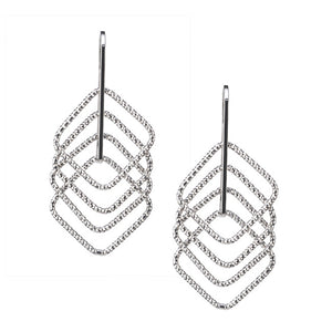 Silver Square Up Earrings