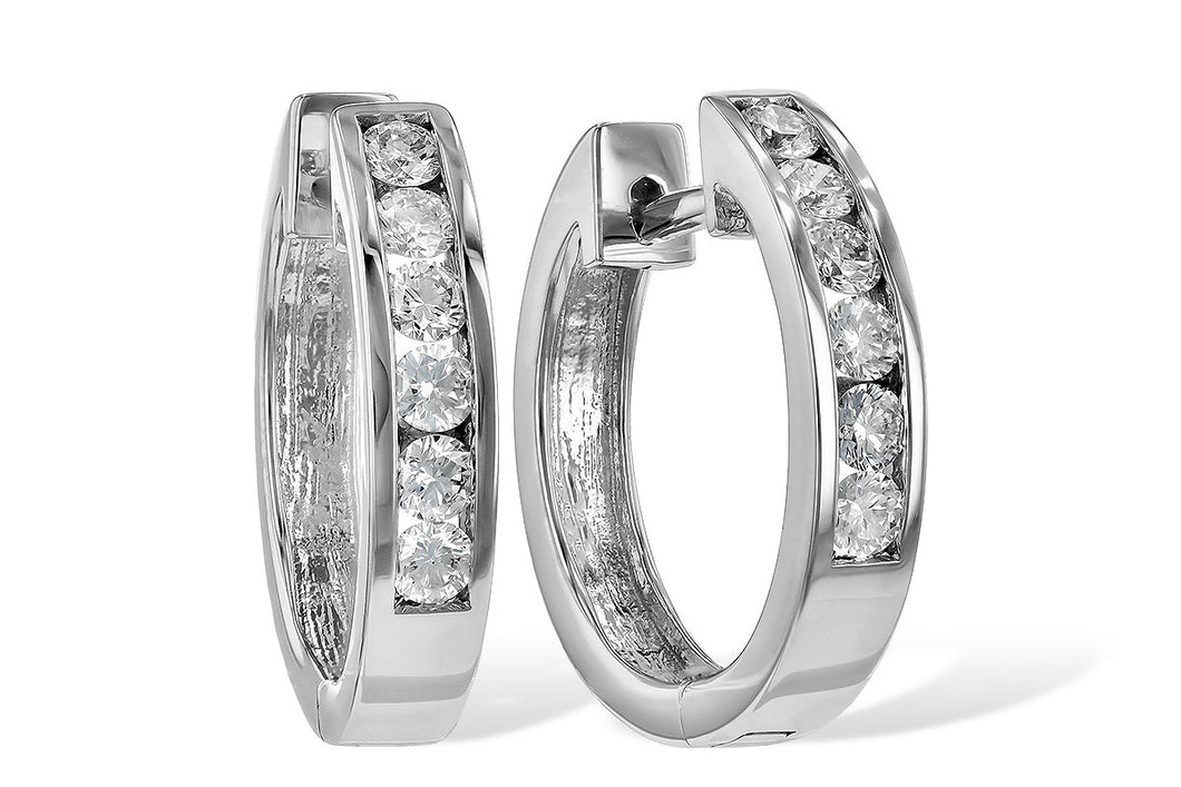 Diamond Hoop Earrings 1/2 carat